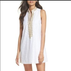 Lilly Pulitzer Jane shift dress mocean lace white